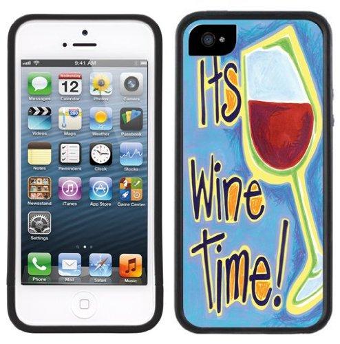 It's Wine Time Handmade iPhone 5 Black Bumper Plastic Case