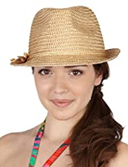 Wide Brim Bow Trilby Hat