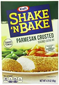 Kraft Shake N Bake Seasoned Coating Mix Box, Parmesan Crusted, 4.75 Ounce