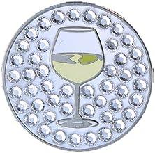 Bella Crystal Wine Glass Hat Clip Set
