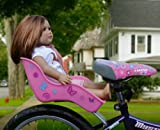 "Doll Bicycle Seat - ""Ride Along Dolly"" Bike Seat with Decorate Yourself Decals (Fits 18"" American Girl and Standard Sized Dolls and Stuffed Animals)"