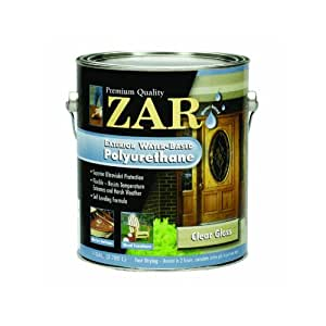United gilsonite 32613 1g gloss zar 326 exterior water based polyurethane household wood for Zar exterior water based polyurethane