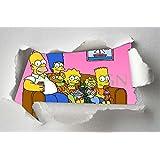 Sticker Trompe Oeil Déchirure Les Simpsons SATOPD0009 (30x20cm)