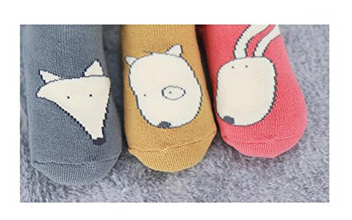 Echofun Unisex Anti-Slip Thick Winter Socks(3 Pairs) for Baby 0-4yrs