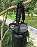 Hydro Flask Handle - Paracord Survival Strap with Security Ring for Wide Mouth Water Bottles Carrier