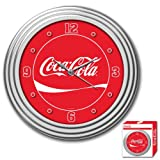 Trademark Global Coca-Cola Dynamic Ribbon Device Clock, 12-Inch