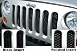 Rampage 86512 Gloss Black Powder Coat Sport Mesh 3D Wire Grille