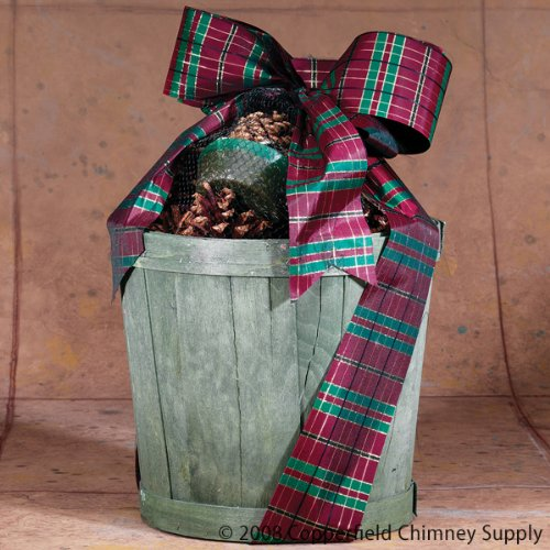 GIFT SET - Fireplace Hearth Woodstove Fire Starter Collection - GREEN PLANTER BASKET