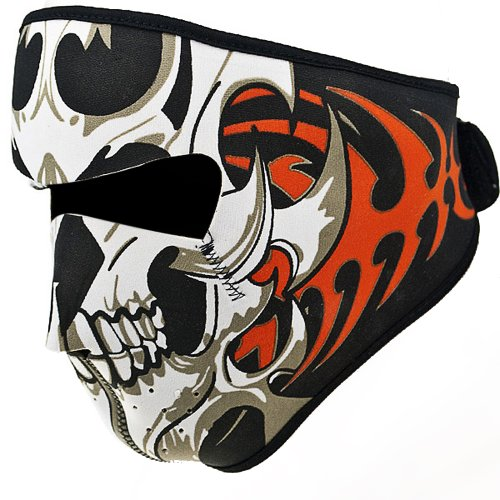 2 In 1 Reversible Warm Black Tribal Classic Skull