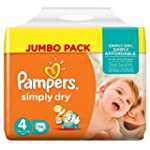 Pampers Simply Dry Windeln, Gr��e 4 (...