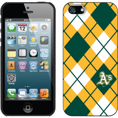 Special Sale Oakland Athletics - Argyle design on a Black iPhone 5s / 5 Thinshield Snap-On Case by Coveroo