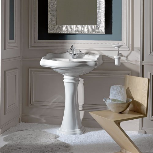 WS Bath Collections Retro 1045+1070 Pedestal Sink 21.7