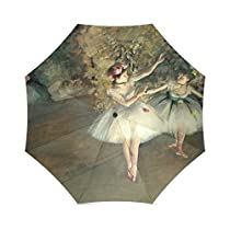 Lovers/Wife/Husband Gifts Presents Degas Two Dancers Entering Stage 100% Fabric And Aluminium Foldable High-quality Umbrella