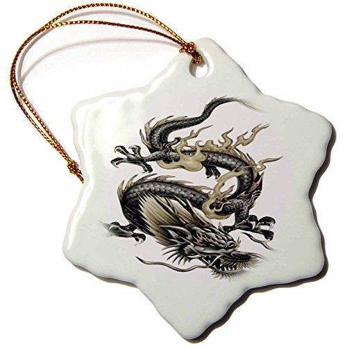 3dRose LLC orn_63149_1 Porcelain Snowflake Ornament, 3-Inch,