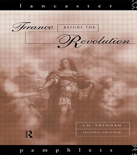 France Before the Revolution (Lancaster Pamphlets)