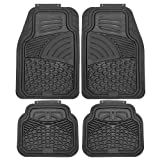 OxGord 4pc Set Tactical Heavy Duty Rubber Floor Mats - Black