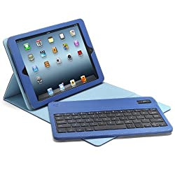 Aduro FACIO Case with Bluetooth Removable Keyboard for Apple iPad Air (Blue/Turquoise)
