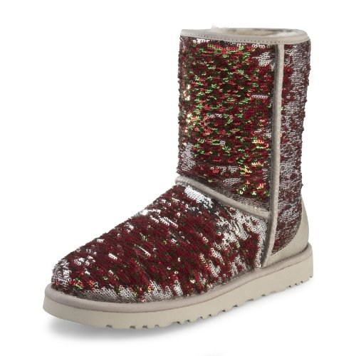 UGG Australia Classic Short Sparkles Holiday Shimmer Womens Boot HOLIDAY 9