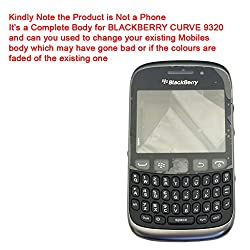 HIGH QUALITY FULL BODY HOUSING PANEL FACEPLATE FASCIA for BLACKBERRY CURVE 9320 Black