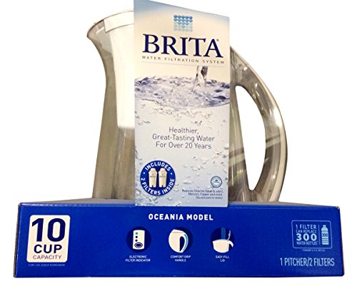 Brita Water Filtration System Kit: 1 Pitcher (Large Capacity) Plus 2 Filters (Pitcher Water Filter System compare prices)