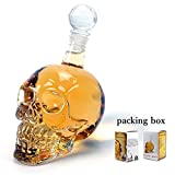 Glass Skull Face Decanter Bottles Bottling (1000_ML)