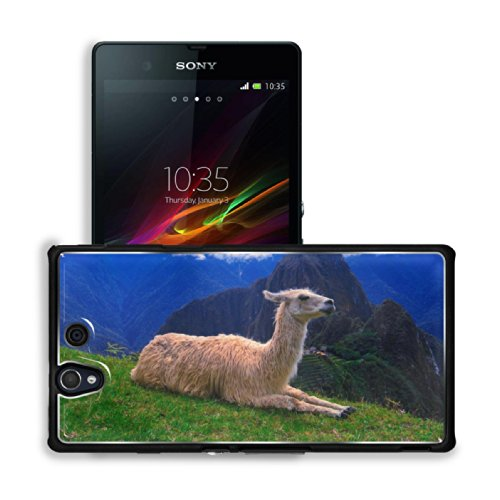 Machu Picchu Llama Camel Prairie Sony Xperia Z 5.0 C6603 C6602 Snap Cover Premium Aluminium Case Customized Made To Order Support Ready 5 4/8 Inch (140Mm) X 2 7/8 Inch (73Mm) X 7/16 Inch (11Mm) Luxlady Sony Xperia Z Cover Professional Xperia_Z Cases Touch