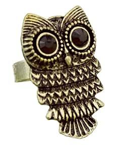 ncieEshop(TM) Adjustable Vintage Retro Nickel Pewter Owl Ring-Bronze +niceEshop Cable Tie