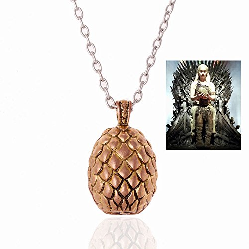 Fashion Game of Thrones Inspired Dragon Egg Pendant Chain Necklace
