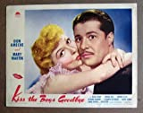 img - for CX17 KISS THE BOYS GOODBYE Mary Martin/Ameche '41 LC. Here s a terrific PORTRAIT lobby card from the original release of KISS THE BOYS GOODBYE featuring a great image of MARY MARTIN and DON AMECHE. Lobby card is in EXCELLENT- condition. A few pinholes, no stains, a clean 1  tear on the lower border has been repaired on the back with paper masking tape. A lobby card is an 11 x 14 inch placard advertising a movie. They were displayed in the theatre lobby to entice moviegoers to go to the box office and buy a ticket. book / textbook / text book