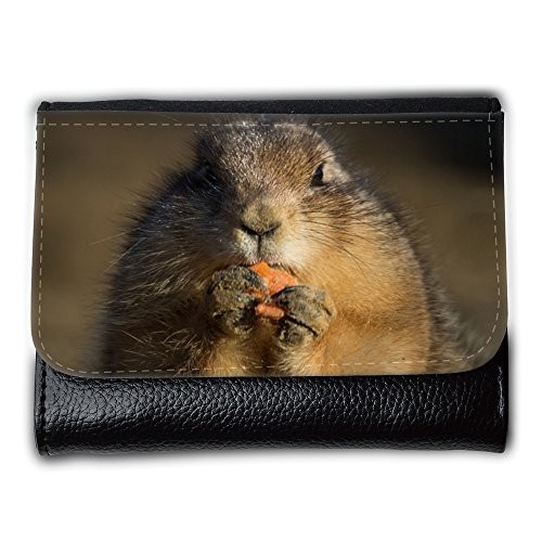 Cartera unisex // M00239698 Prairie Dog Eating Carino Piccolo // Medium Size Wallet
