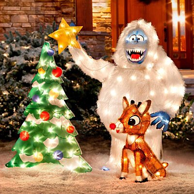Rudolph and Bumbles Lawn Dec http://www.lowprice147.com/Rudolph-Bumble-Outdoor-Christmas-Decor-Improvements