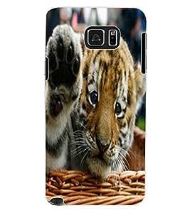 ColourCraft Cute Tiger Cub Design Back Case Cover for SAMSUNG GALAXY NOTE 5