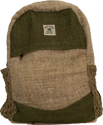 HomoJomo-100-Pure-Hemp-Backpack-Best-Eco-Friendly-Natural-Rucksack-For-women-men-and-kids-Handmade-Product-Nepal-with-Laptop-Sleeve