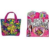 Hummelladen || Handtasche Pink Fashion Bag 28x24 cm incl. 5 Farbstifte || FashionBag Hand Tasche zum Bemalen Ausmalen Bunt aus TV
