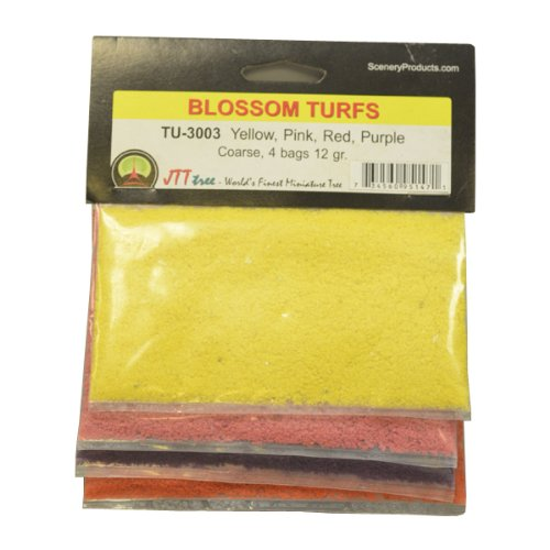 JTT Scenery Products Blossom Flower Turf, Multiple Colors, Coarse