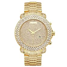 buy Joe Rodeo Rjju39 Junior Diamond Watch, Gold-Encrusted Dial With Gold Paved Band