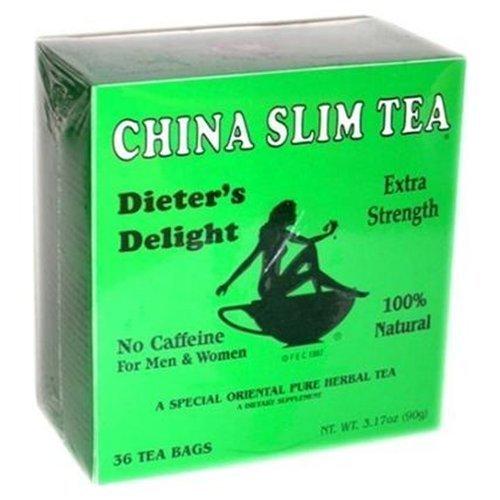 China Slim Tea Dieter'S Delight 36 Tea Bags Net Wt 3.17 Oz (90 G) Extra Strength