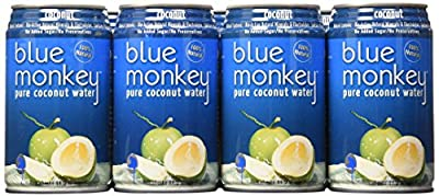 Blue Monkey 100% Natural Coconut Water, 11.2-Ounce (Pack of 24)