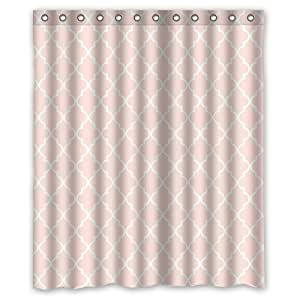 Morocan Pale Baby Pink Shower Curtain 60 By 72