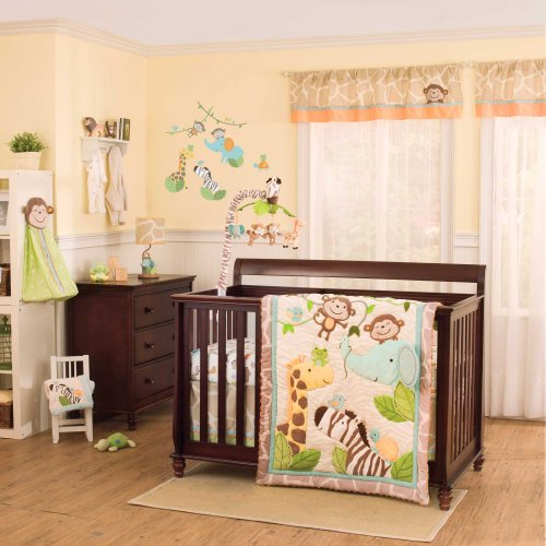 Jungle Play 5 Piece Baby Crib Bedding Set With Bumper By Carters