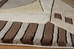 New Wave Collection 100% Wool Fiber Chinese Hand Tufted Carpet/Rug Color:LT.BROWN Size:3\'-6\