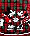 Walt Disney World Disney Theme Park Exclusive New Mickey Mouse Minnie Red Green Tartan Plaid…