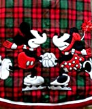 Walt Disney World Disney Theme Park Exclusive New Mickey Mouse Minnie Red Green Tartan Plaid Christmas Tree Skirt 50