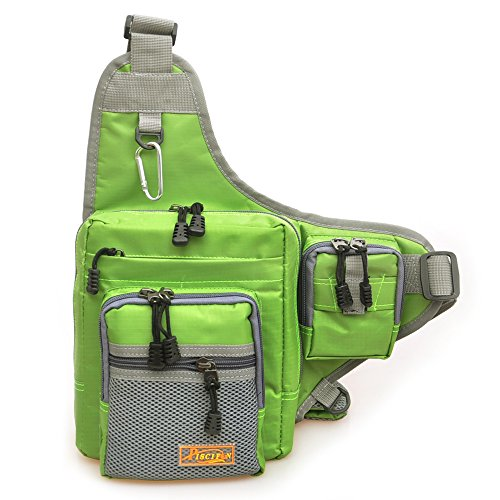 Piscifun Outdoor Sports Shoulder Bag Fishing Tackle Storage Crossbody Travel Hiking Climbing Backpack Messenger Sling Bags