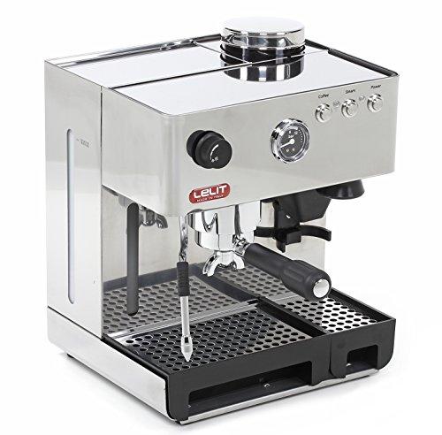 Lelit PL42EMI Macchina per Caffè Espresso con Macinacaffè Incorporato e Manometro Retroilluminato