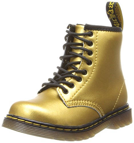 Dr. Martens Brooklee Boot (Toddler/Big Kid),Gold Alumix,9 Uk(10 M Us Toddler)