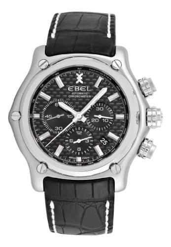 Ebel Men's 9137L70/1533514 1911 BTR Black Chronograph Dial Watch
