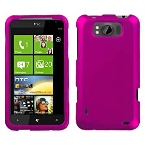 Asmyna HTCX310AHPCSO212NP Titanium Premium Durable Rubberized Protective Case for HTC Titan X310a - 1 Pack - Retail Packaging - Hot Pink