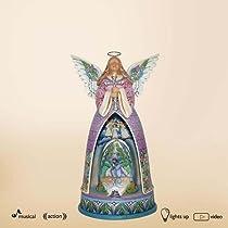 Jim Shore He Lives EASTER ANGEL Musical Lighted 4015584