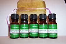 Aromatherapy Gift Set - Top 5 Essential Oils in Organza Bag